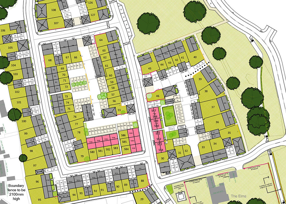 C G Fry and Son Masterplan drawing for a housing development - design review panel blog article