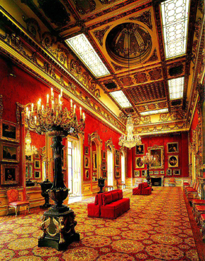 Internal view of the Waterloo Gallery. The room holds one of the finest collections of paintings in England