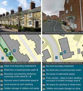Comparative streetscenes – Swindon Railway Terrace vs 'Anywhere' housing on a local development (2006)
