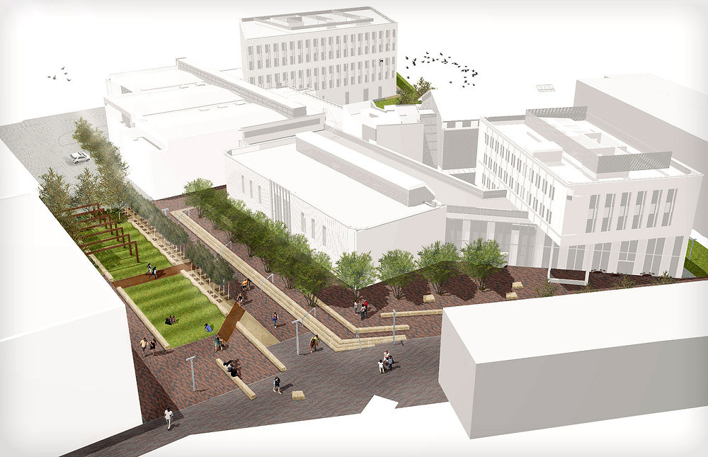 BIM Landscape Model of Lancaster University Copyright LT Studio