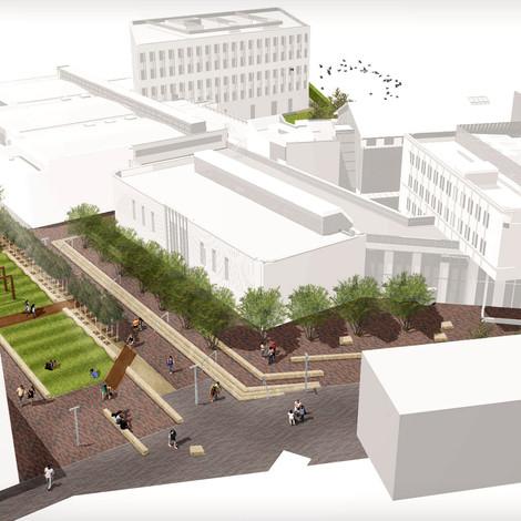 BIM for Landscape: Case Study Lancaster University Management School by LT Studio Landscape Architec