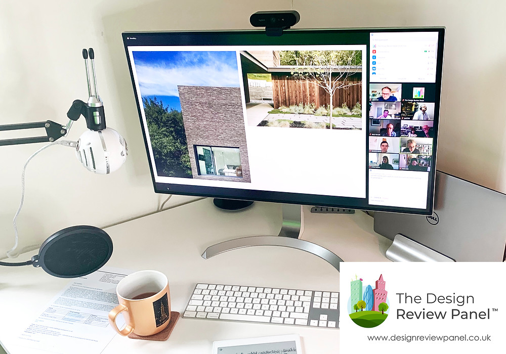 Design Review Panel Remote Working Desk Set-Up