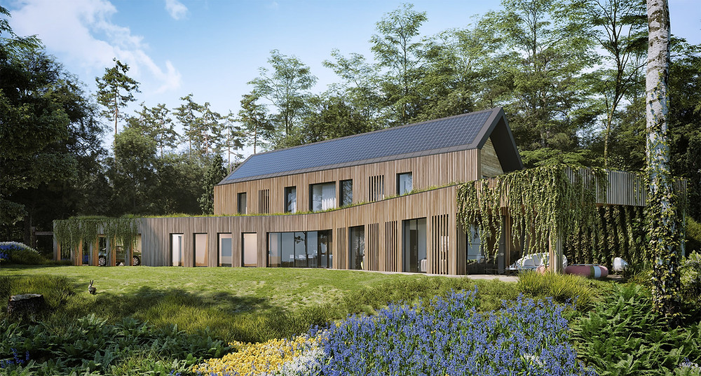 3D visual of The Autarkic House - an Innovative para 79 house approved in Devon