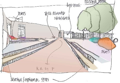 Swan Paul Partnership Landscape Architects Sketch 2