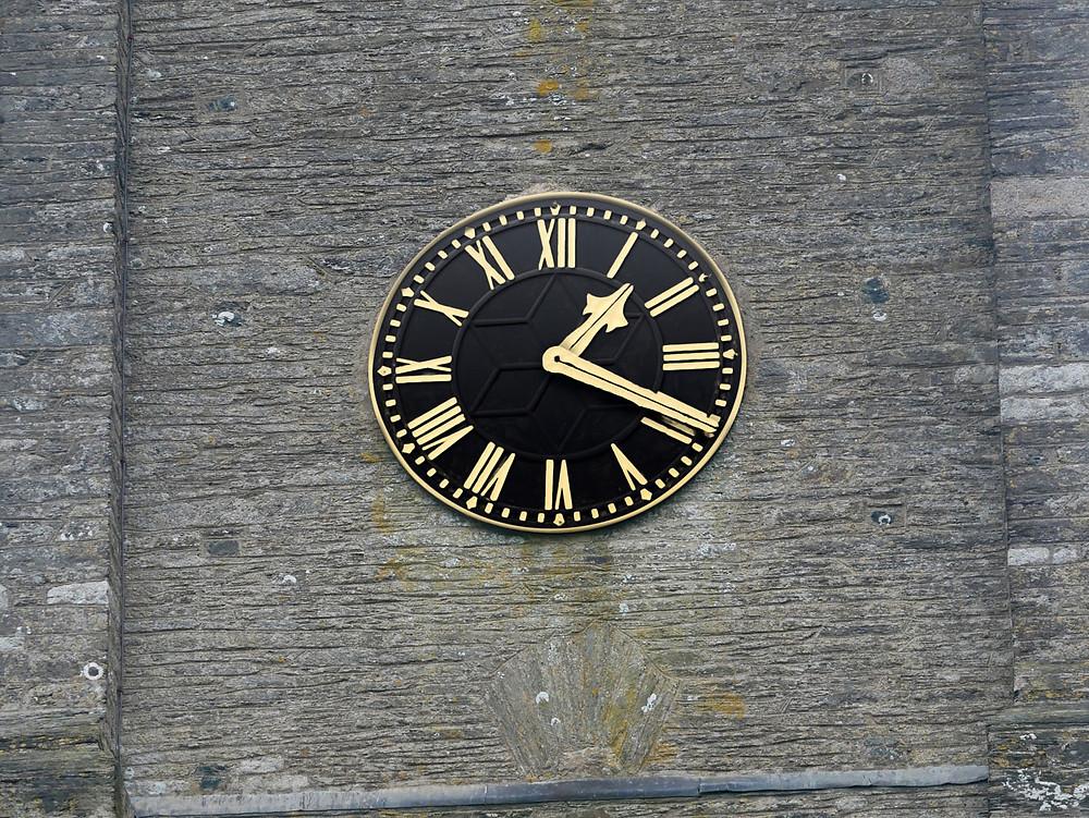 Clock face after restoration