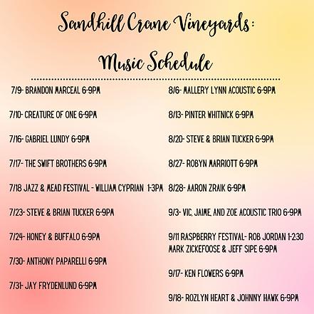 Sandhill Crane Vineyards Music Schedule.png