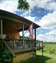 Winery front porch