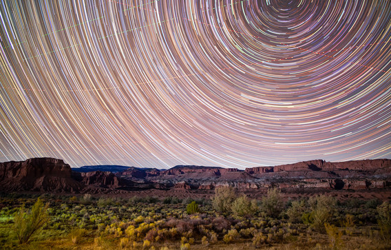 Star Trails over Capitol Reef