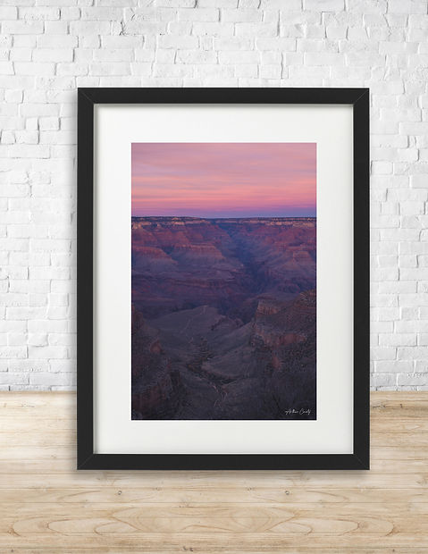 Fine art print of sunset over Grand Canyon National Park - by Arthur Cauty