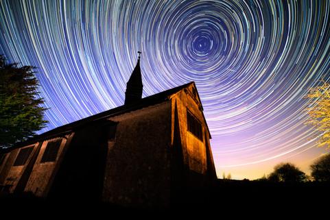 Chapel Star Trails
