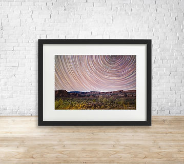 Fine art astrophotography print of Star Trails over Capitol Reef National Park - by Arthur Cauty