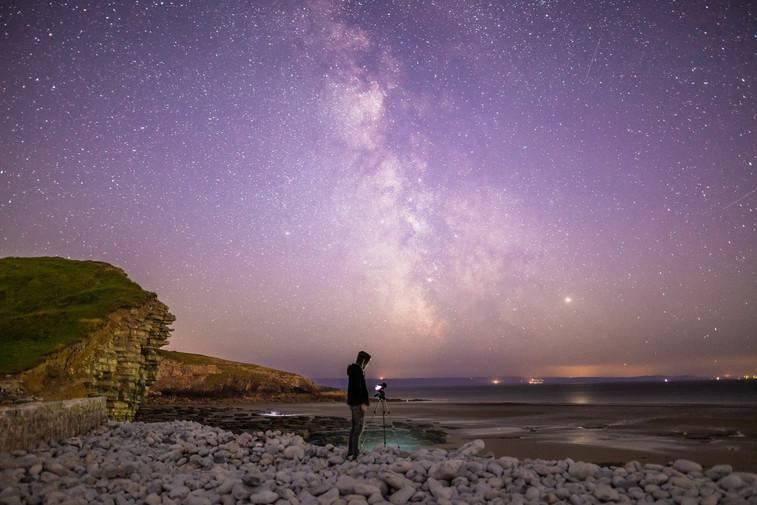 Capturing the Milky Way, Dunraven Bay, South Wales