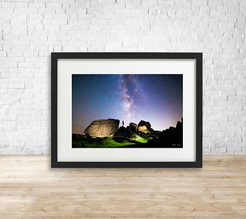 Fine art astrophotography print of Milky Way over Bonehill Rocks, Dartmoor National Park - by Arthur Cauty