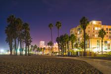 Santa Monica Boardwalk at Night