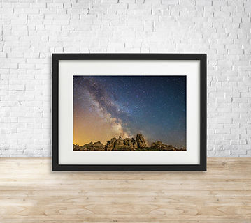 Fine art astrophotography print of Milky Way over Hound Tor, Dartmoor National Park - by Arthur Cauty