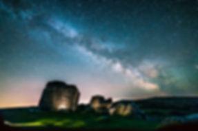 Bonehill Rocks Milky Way