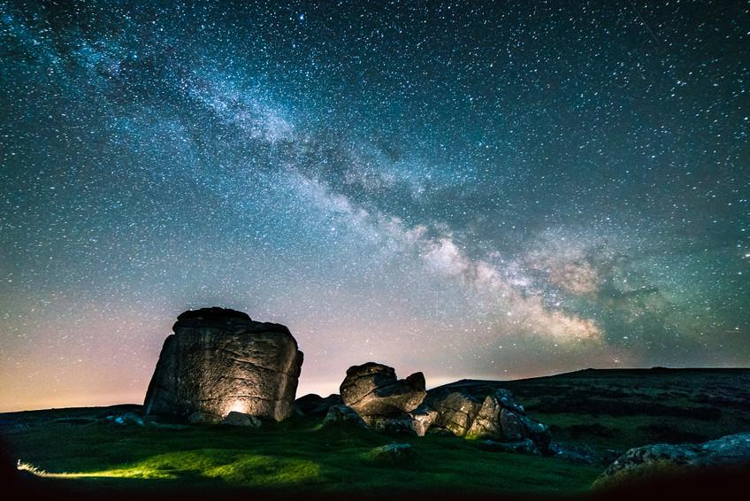Milky Way over Bonehill Rocks