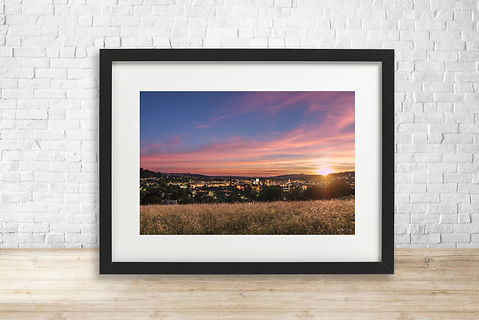 Fine art print of sunset over Bath, Somerset - by Arthur Cauty