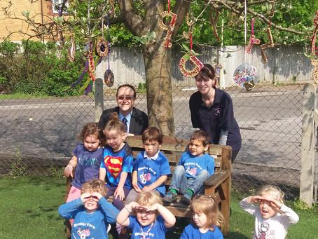 Councillor supports preschool garden project