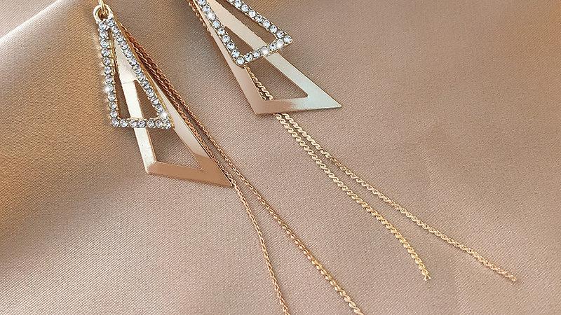 Gold rhinestone drop Earrings