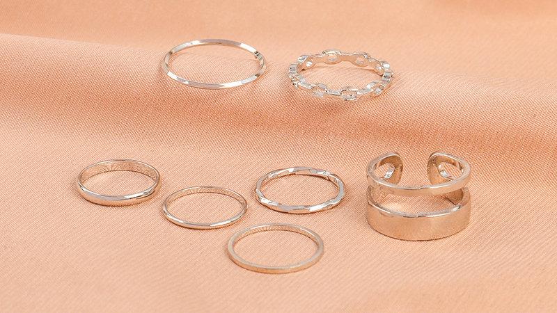 Silver Adjustable rings set