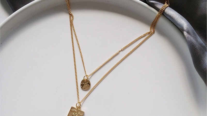 Gold face layered Necklace