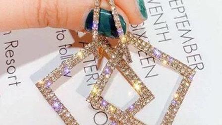 Rhinestone big Drop earrings