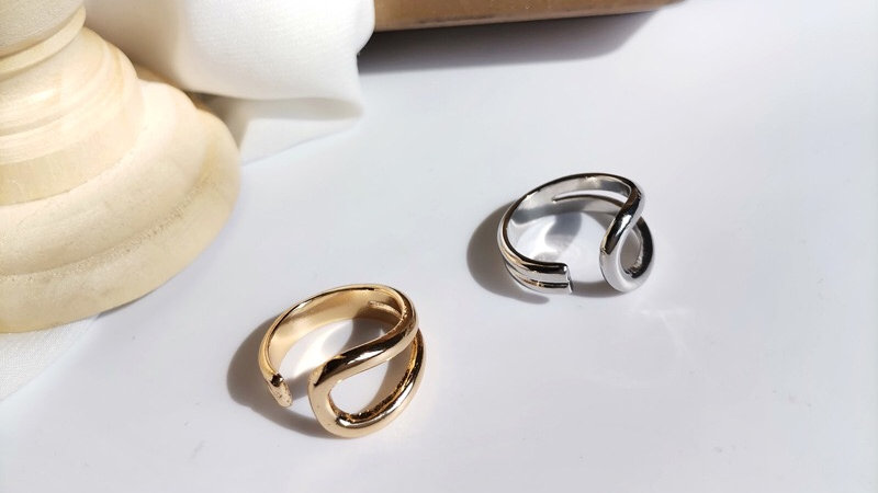 Gold-tone adjustable ring
