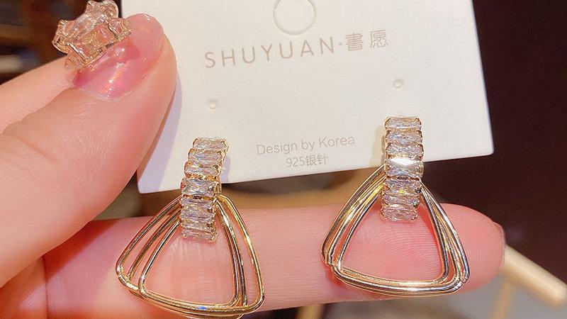 Rhinestone triangles Earrings