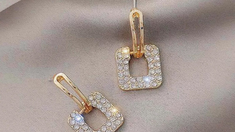 Square rhinestone Earrings