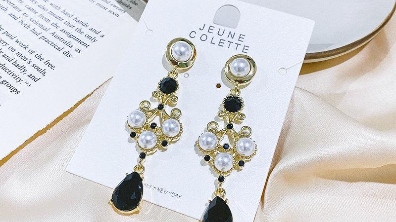 Black&white Drop Earrings