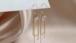 Gold & gem Earrings