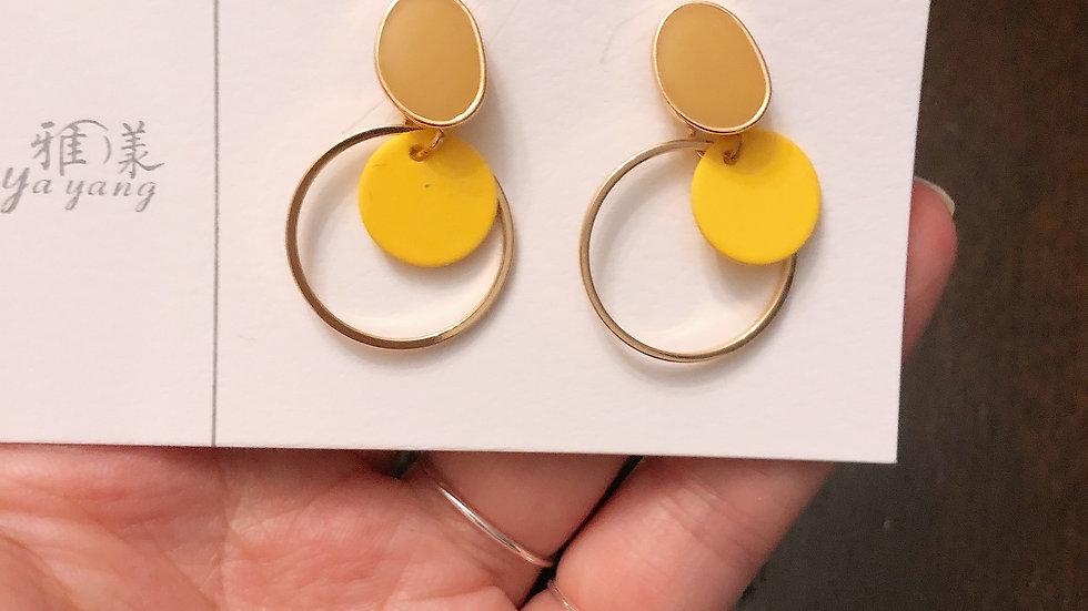 summer yellow earrings
