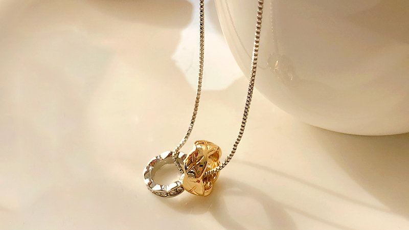 Gold&silver ring Necklace