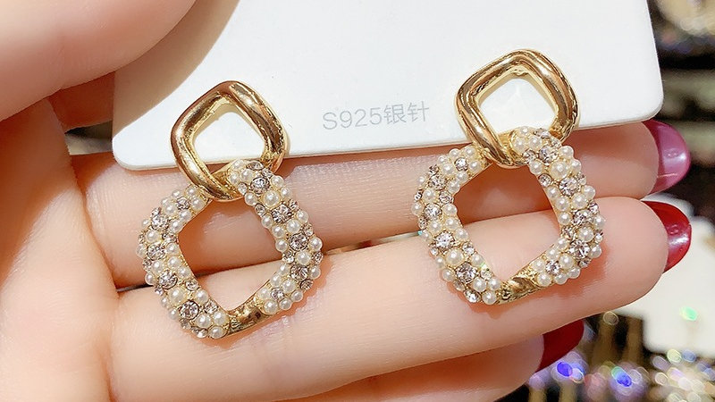 Pearls square Earrings