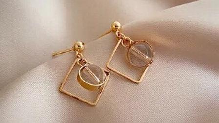 Crystal & gold Earrings