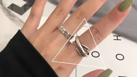 Adjustable silver Ring