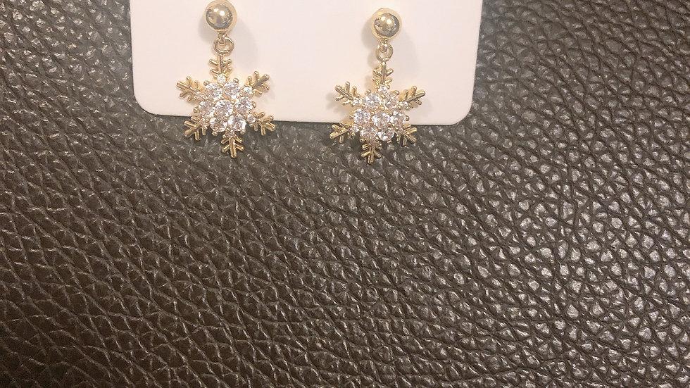 Rhinestone snow flower Earrings