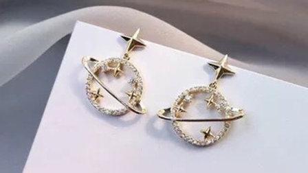Rhinestone planet Earrings