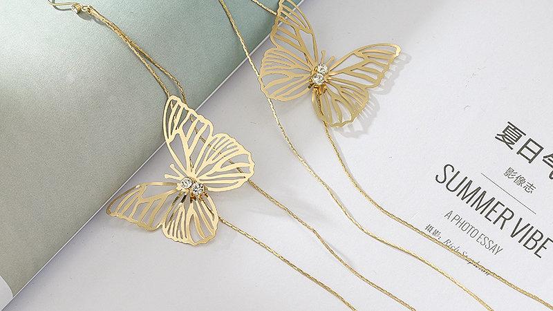 Gold-tone butterfly Earrings