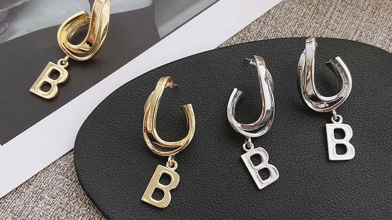 B Gold stone Earrings