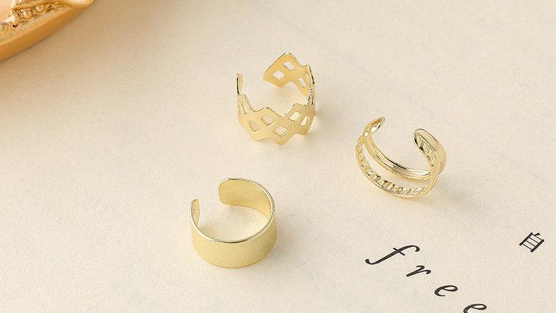 Gold-tone ear cuff set