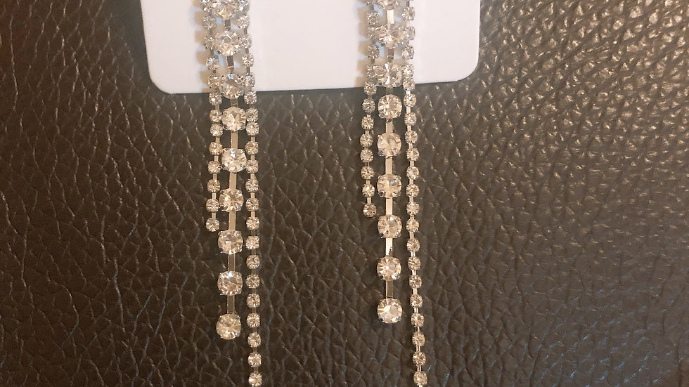 Rhinestone tassels Drop Earrings