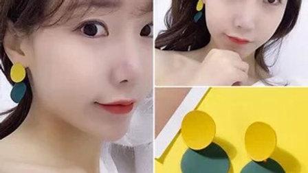 Yellow & Green Earrings