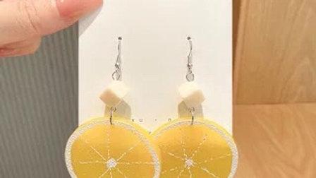 Yellow lemon earrings