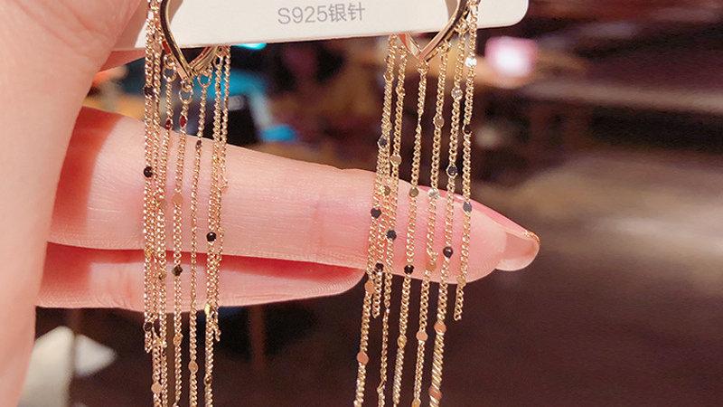 Gold tassels Earrings