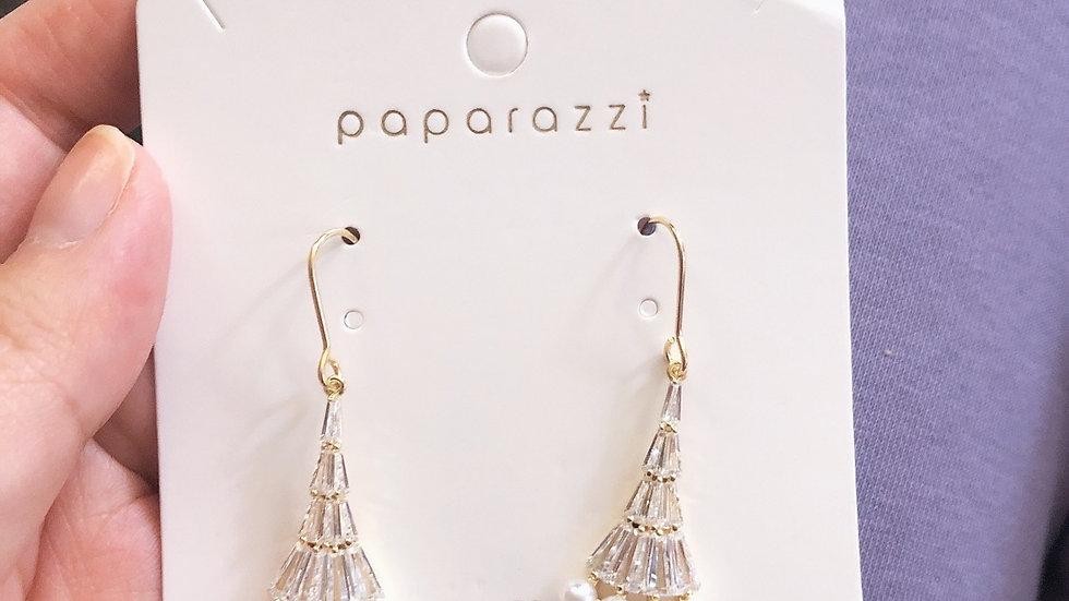 Pearl & rhinestone drop earrings