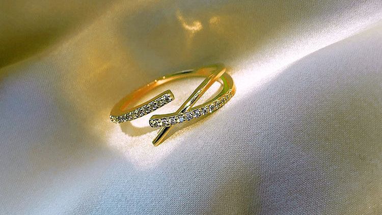 Rhinestone Adjustable ring