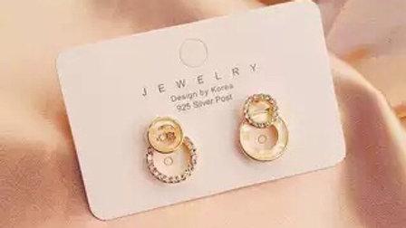 Rhinestone circle Earrings