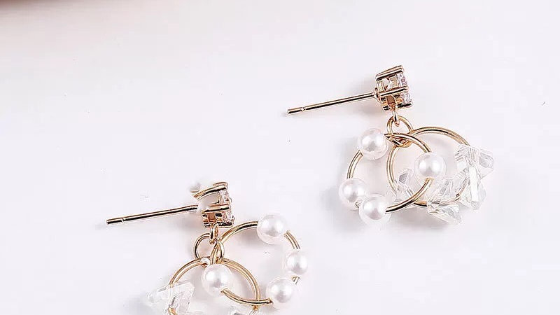 Pearls circles Earrings